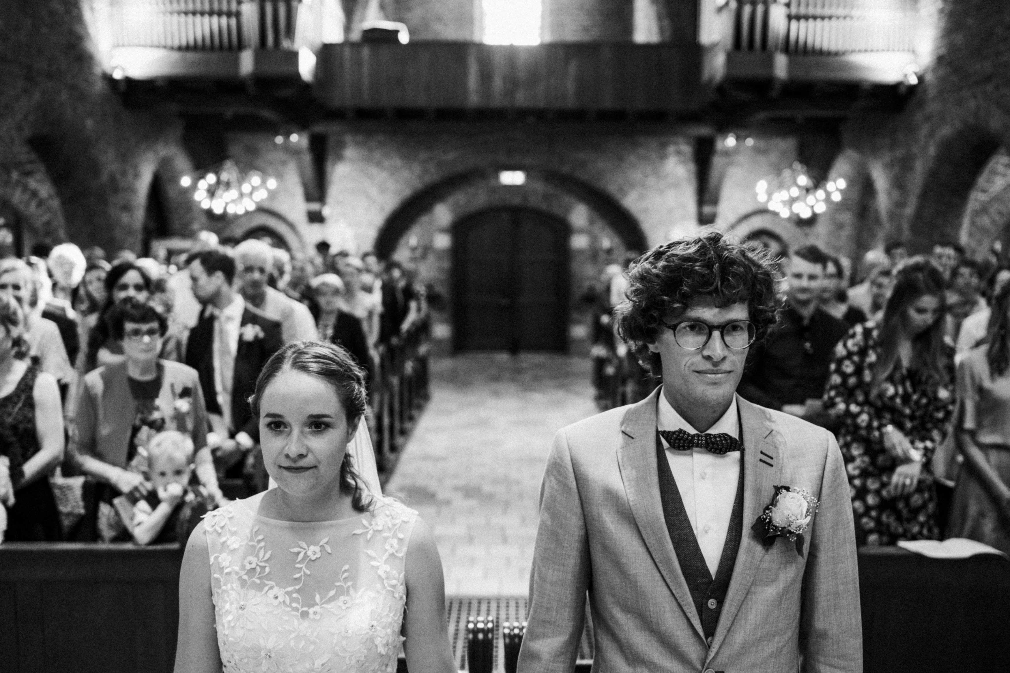 wedding couple in church