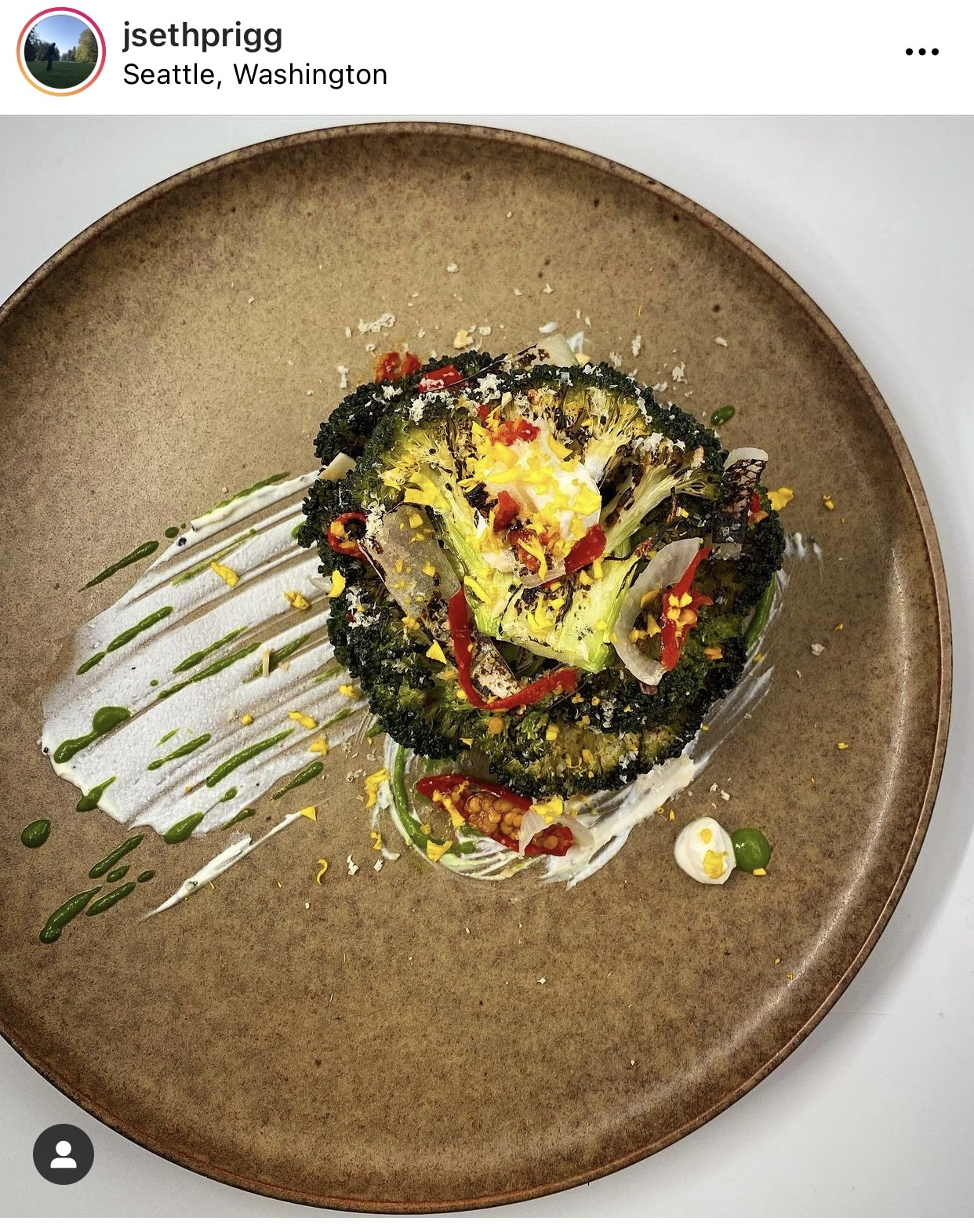Seth Prigg food art Instagram post