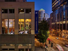 the exterior of muse restaurant in downtown seattle
