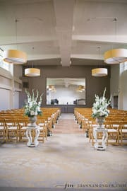 The vashon room in the hal of fauntleroy set for a wedding ceremony