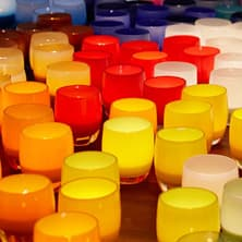 glassybaby votive candle holders