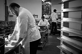 chefs at work in the kichen at Davids and Co