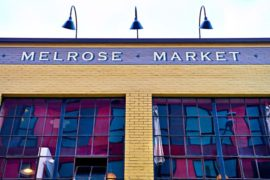 The exterior face of the Melrose Market building in seattle, wa