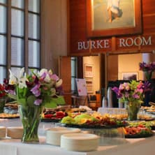 A snack buffet set at the Burke Museum