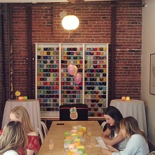 glassybaby wall in event space