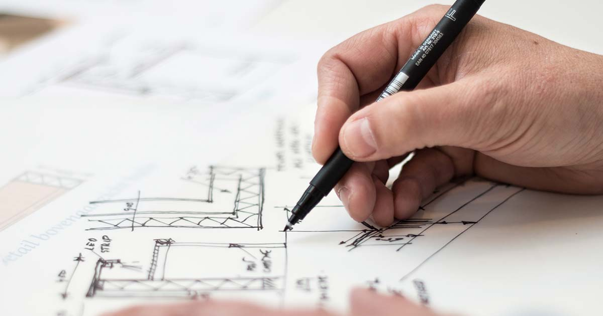 architect sketching