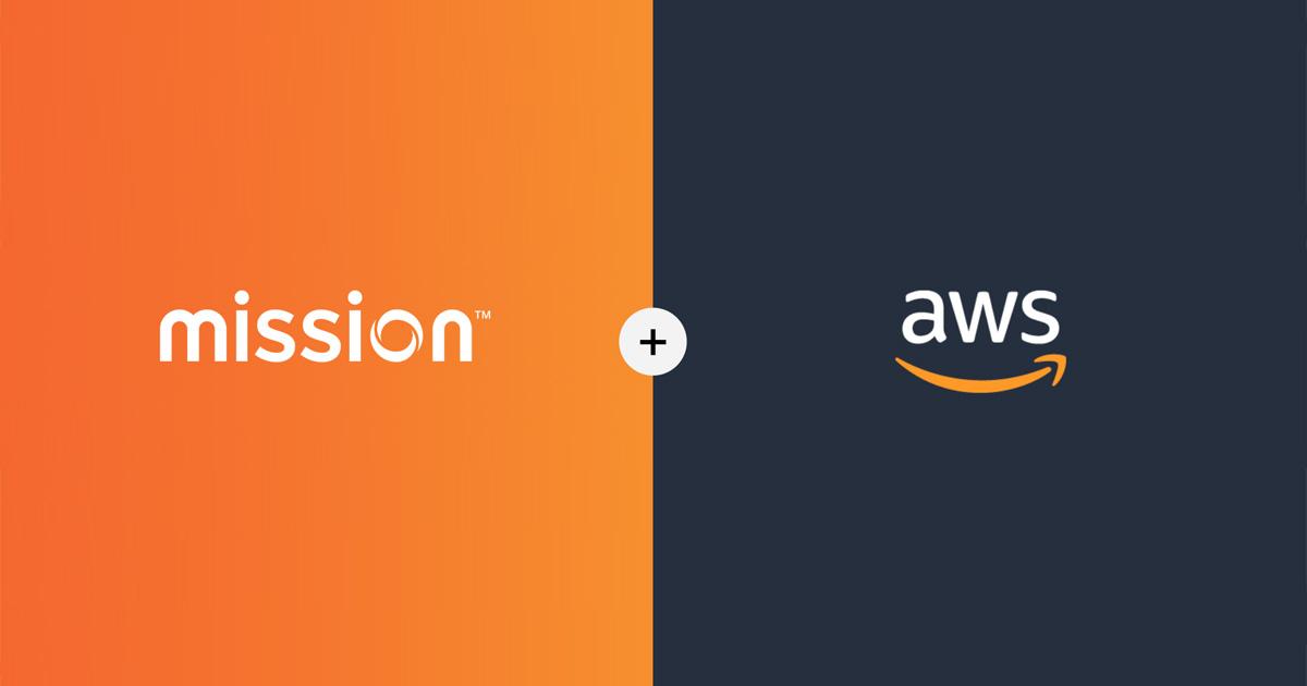 mission + aws logos
