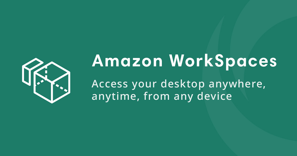 aws workspaces icon and text