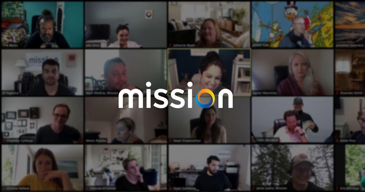 zoom call with mission employees