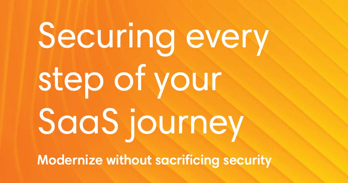 ebook cover art for Securing every step of your SaaS journey