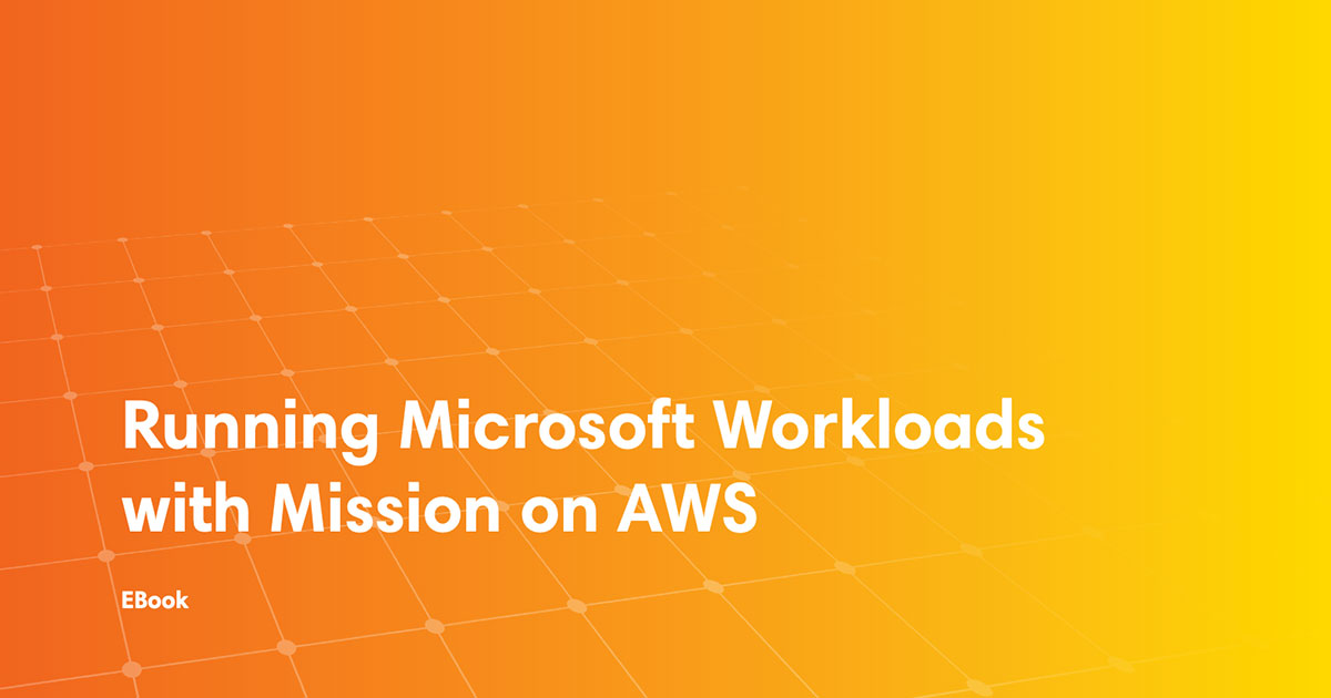 ebook cover art for Running Microsoft Workloads with Partner on AWS