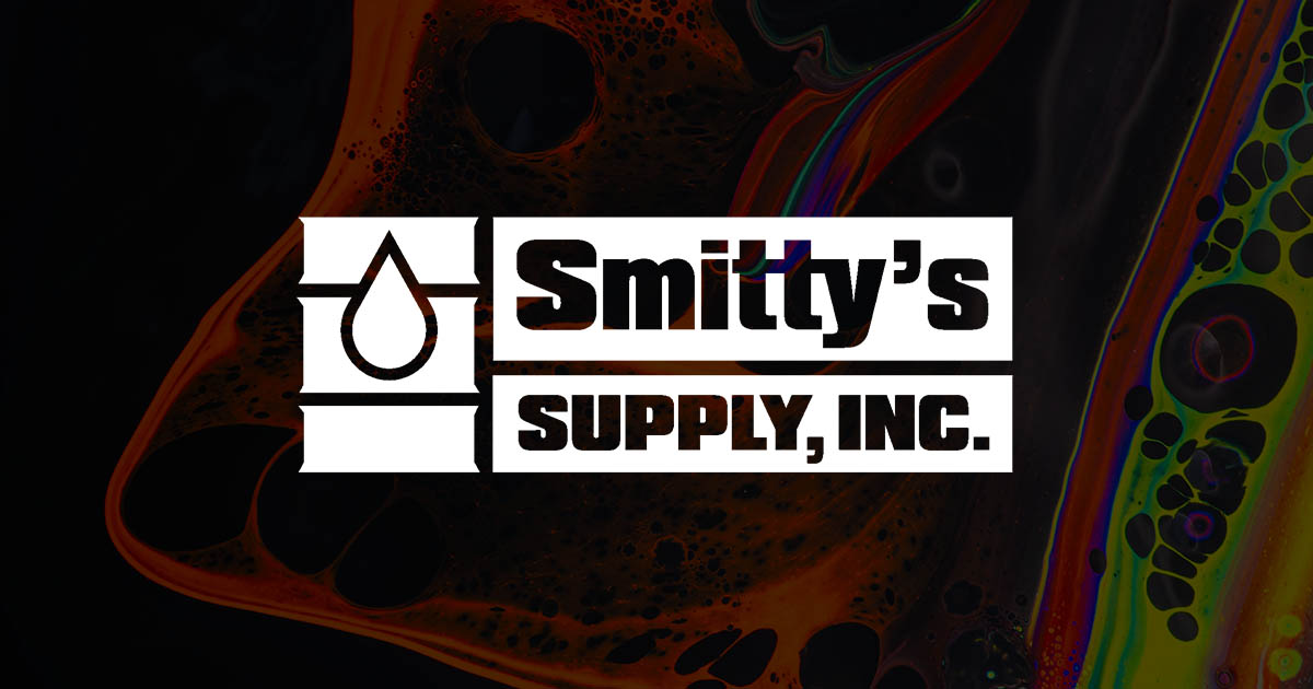smitty's supply inc. logo with an oil background