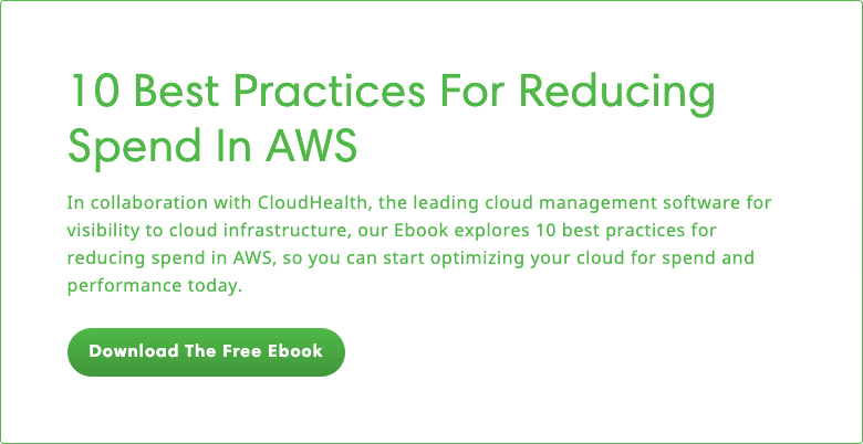 10 best practices for reducing spend in AWS - link to ebook