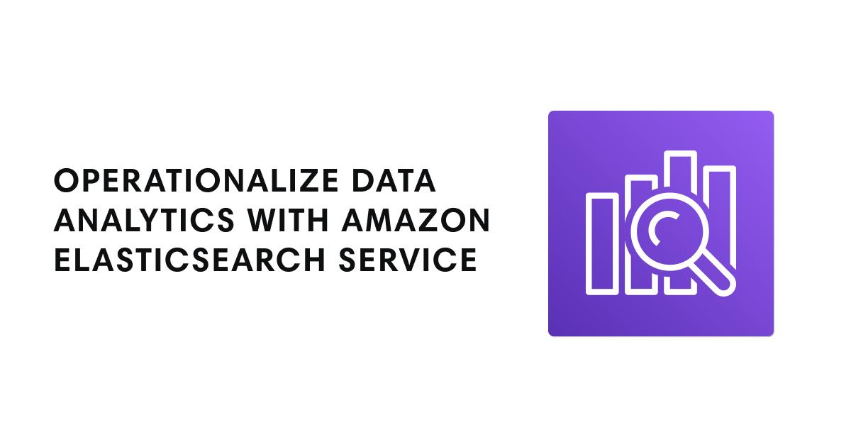 Amazon Elasticsearch Service icon with webinar title