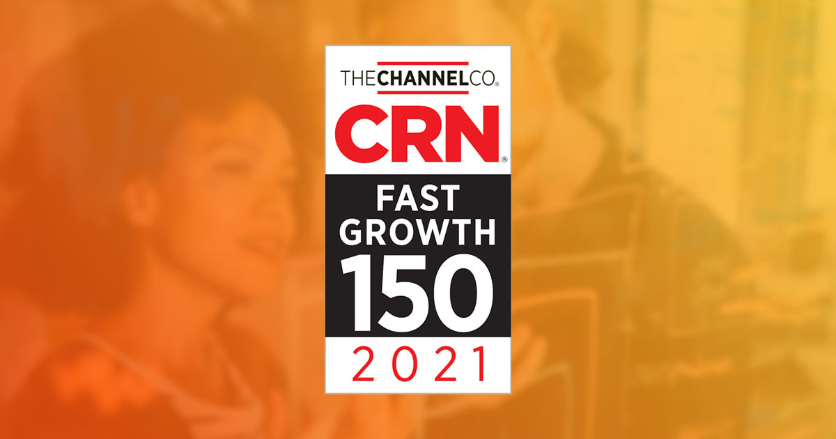 CRN Fast Growing 150 2021 graphic