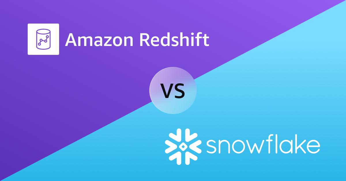 amazon redshift logo and snowflake logo