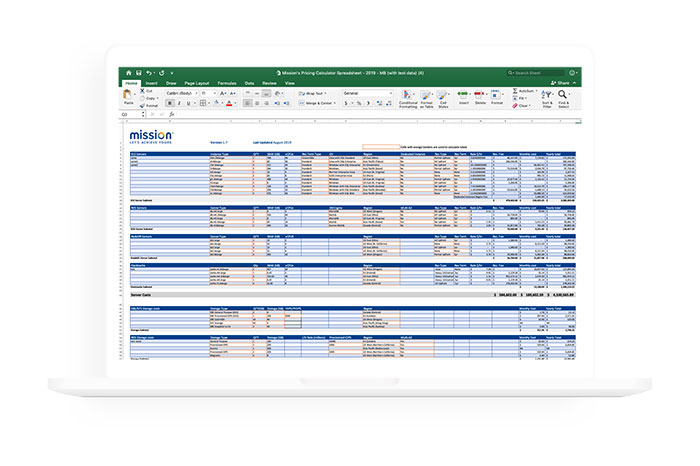 laptop mockup with excel