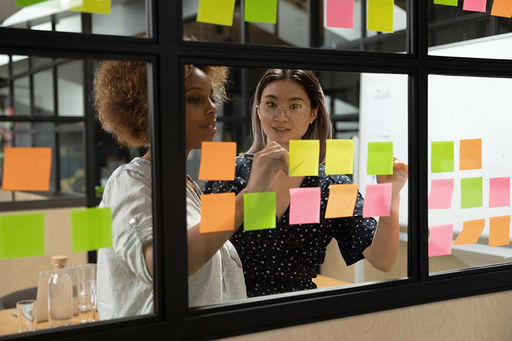 people planning on glass windows