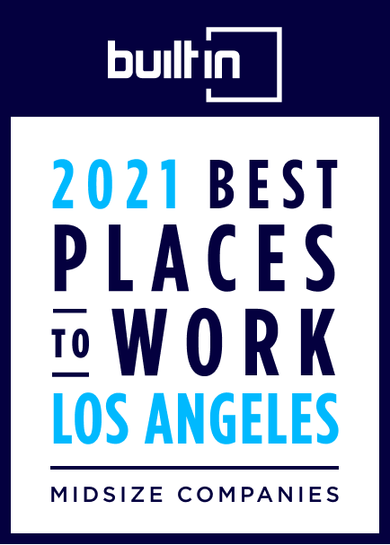 2021 Best Places to work in Los Angeles certification midsize companies
