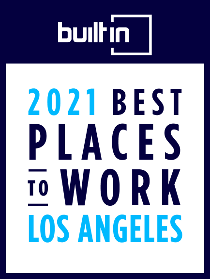 2021 Best Places to work in Los Angeles certification