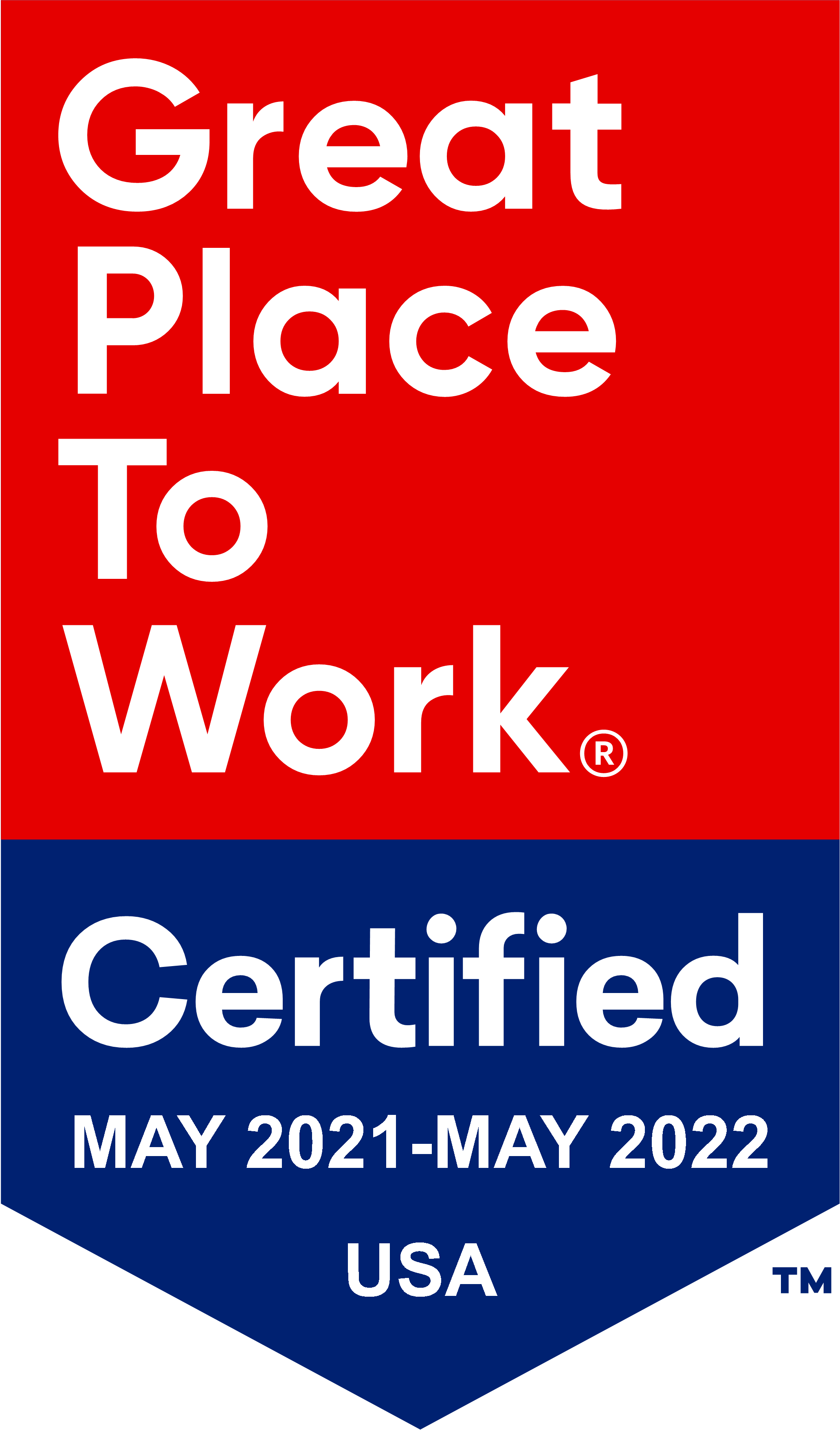 Great Place To Work Certification for 2021