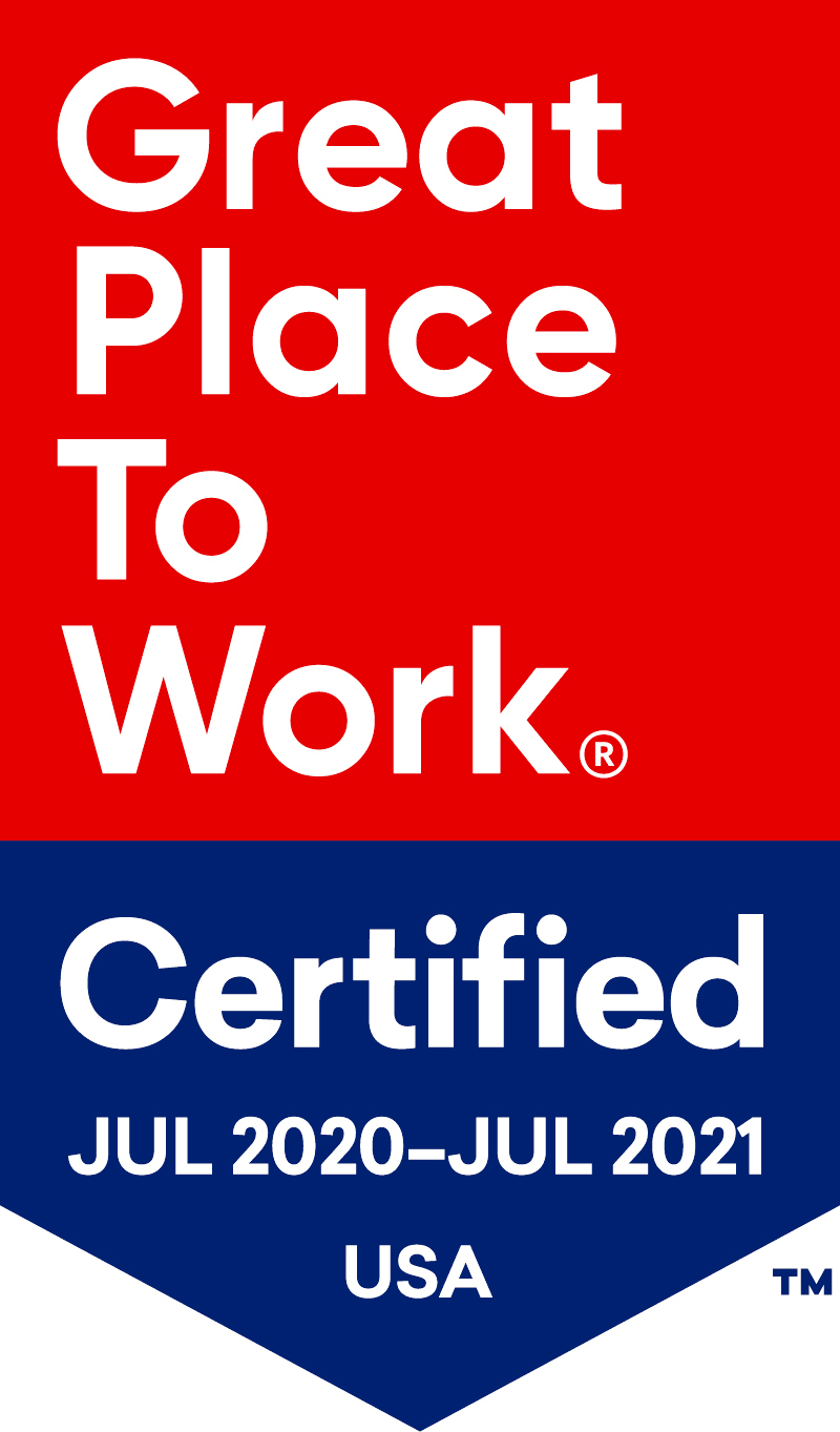Great Place To Work Certification for 2020