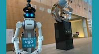 【ロボスタ 】日通本社ビルがアバター警備ロボットを実証実験 Mira Roboticsの次世代型警備ロボット「ugo TS-P」