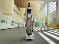 警備アバターロボットugo、大分県立美術館で実証実験を実施