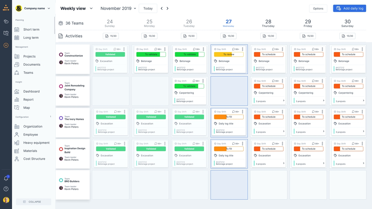 Planning features screenshot