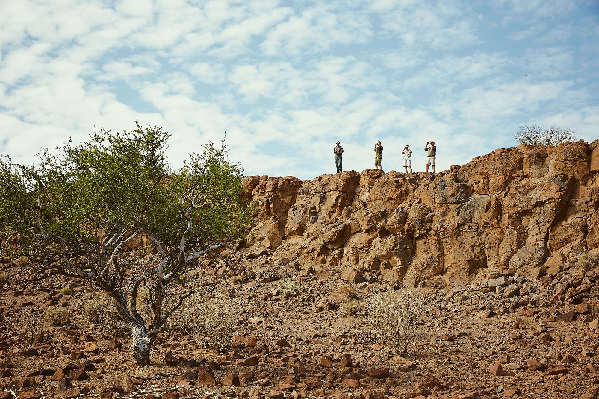 hiking on Boscia/Namibia