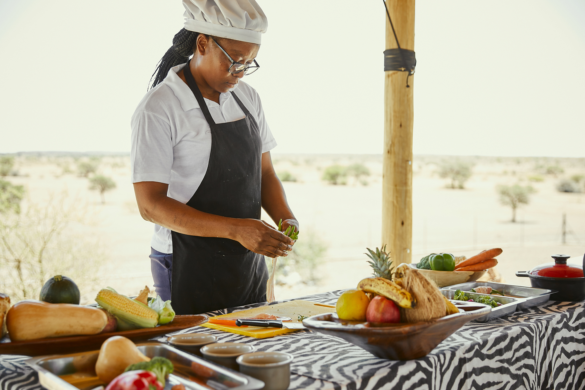 African cooking classes at Boscia Farm