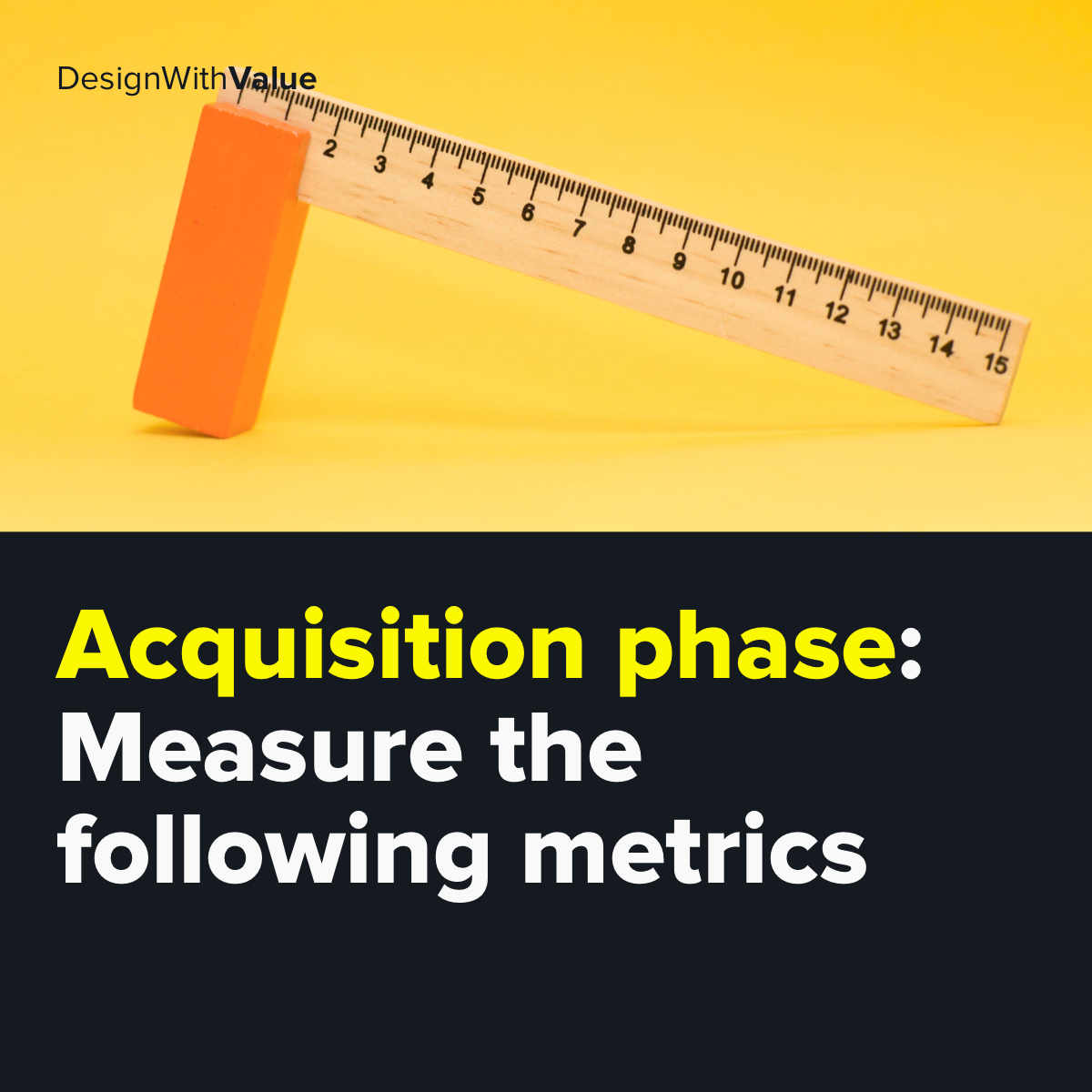 Measure the following metrics in the acquisition phase