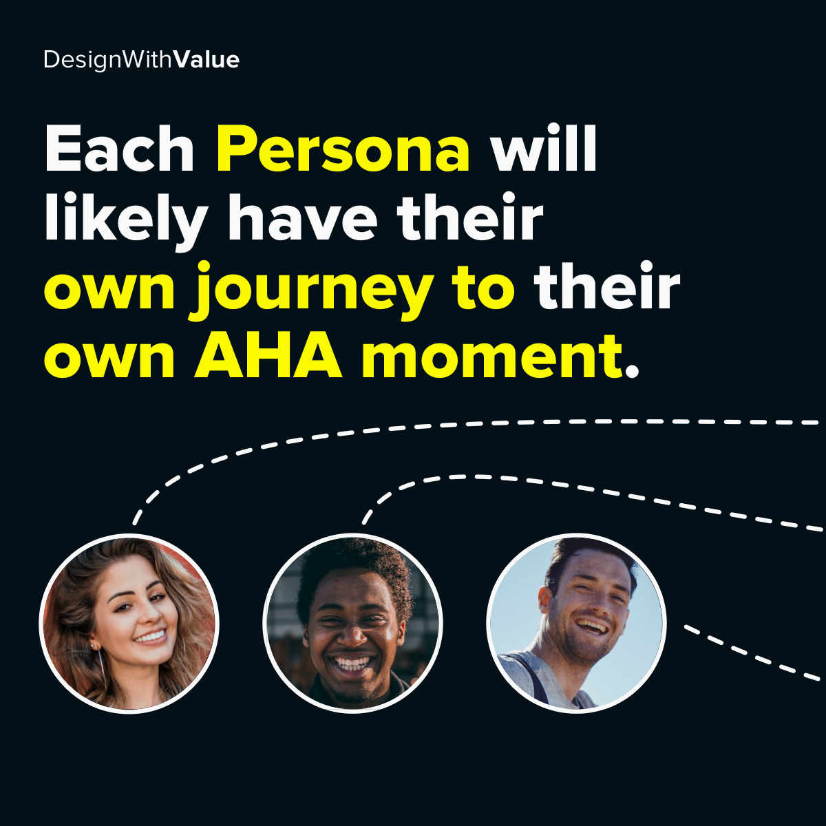 Each persona will likely have their own journey to their own AHA moment.