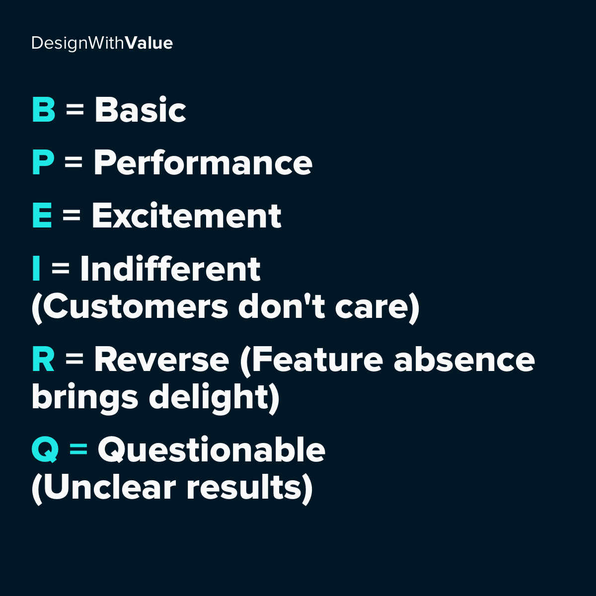 Summary of the feature types.