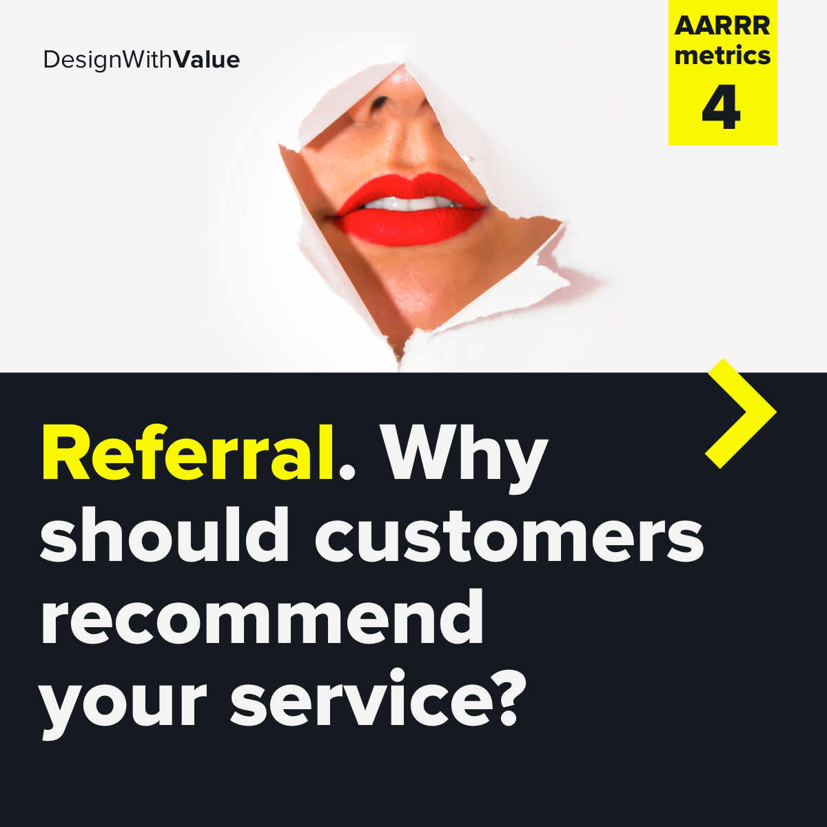 Referral. Why should customers recommend your service?
