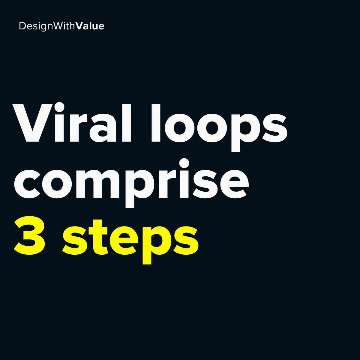 Viral loops comprise 3 steps.