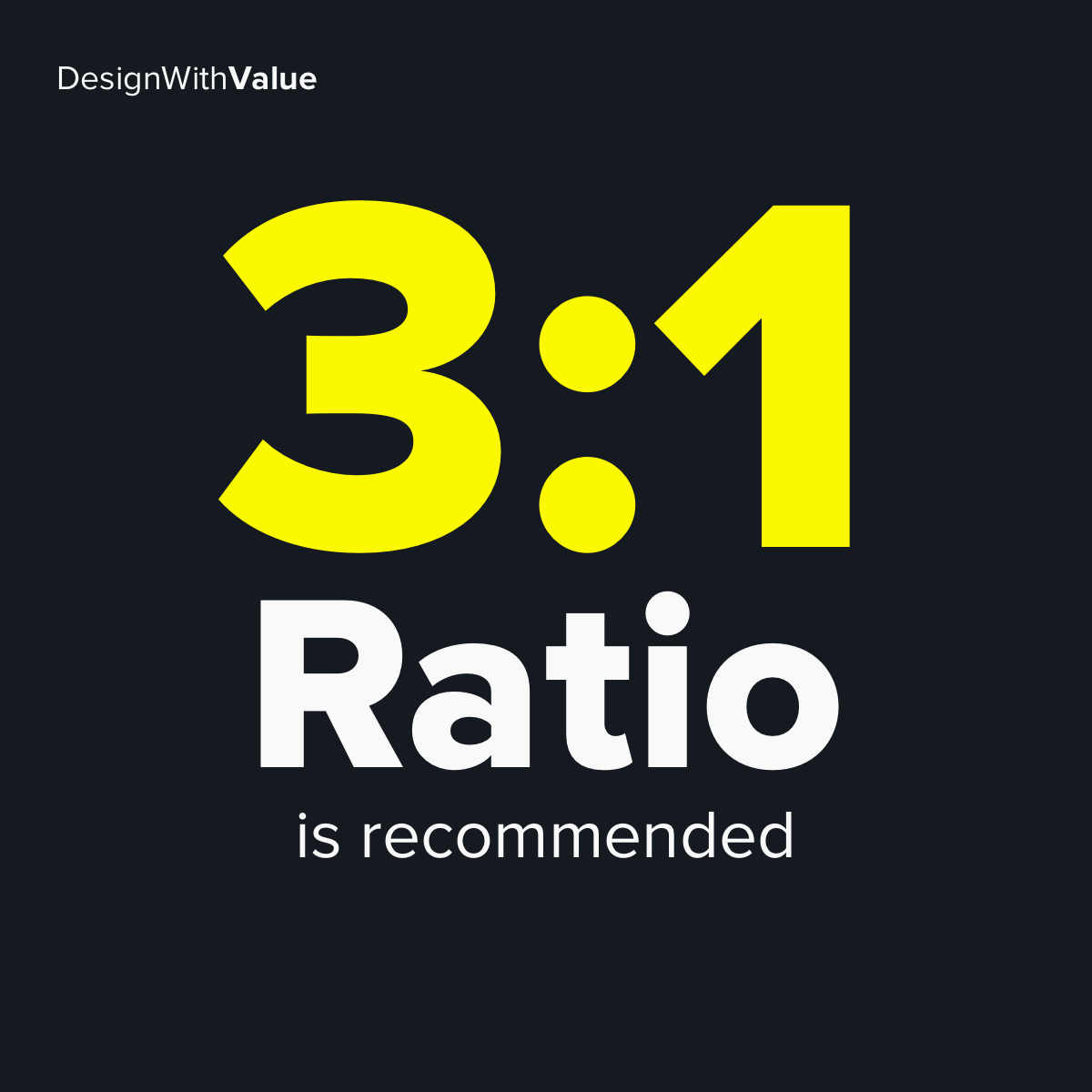 3:1 ratio is recommended.