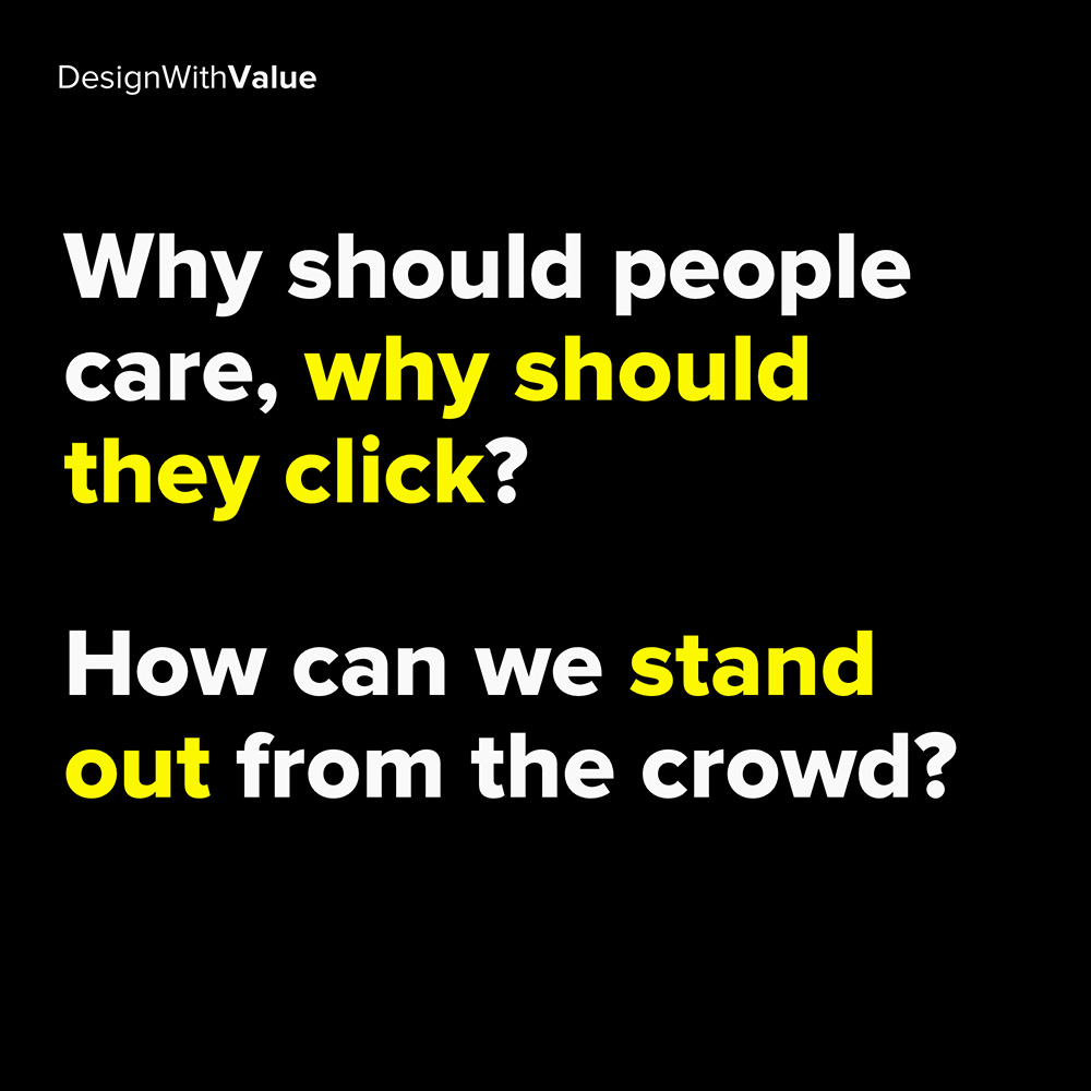 why should people care, why should they click?
