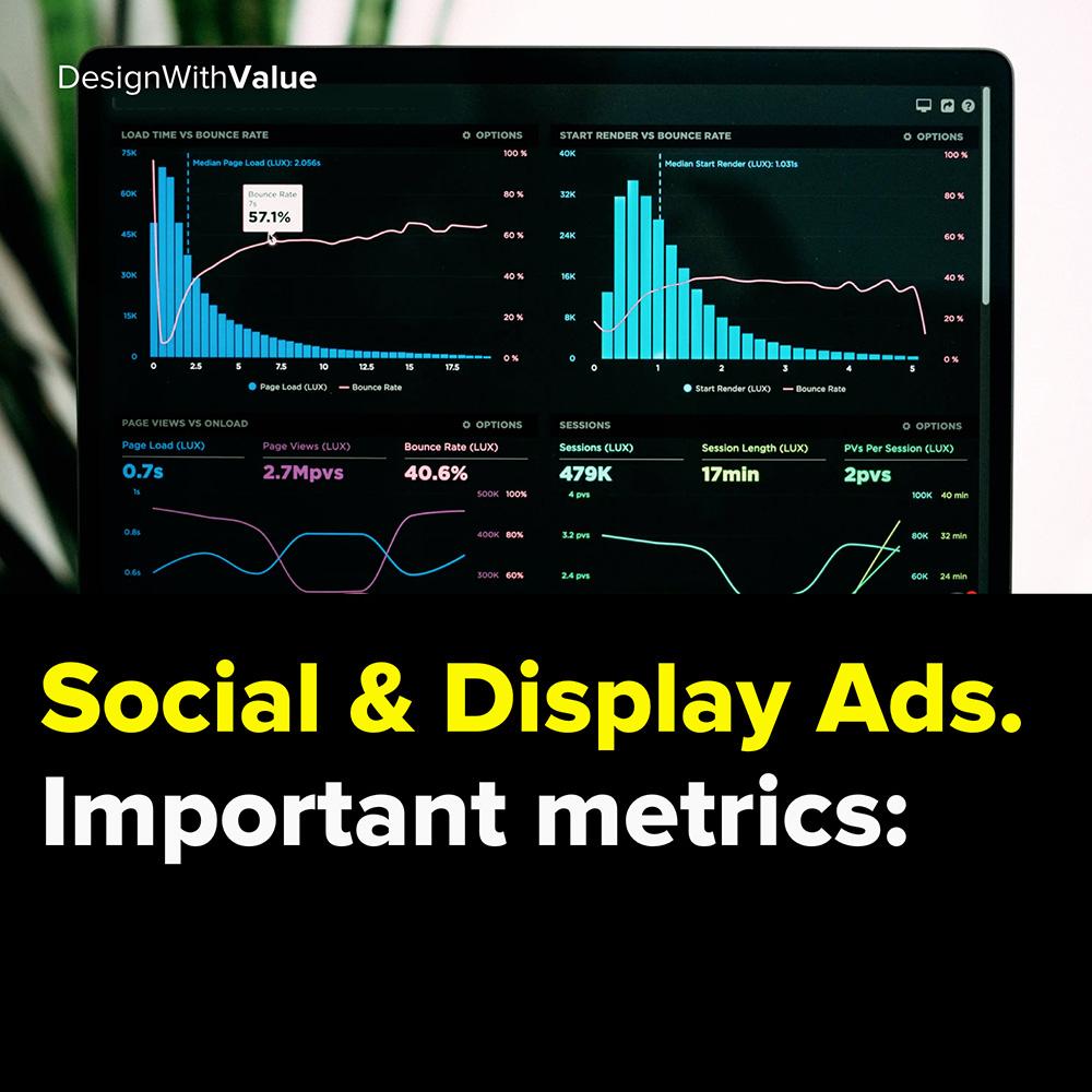 social & display ads. important metrics: