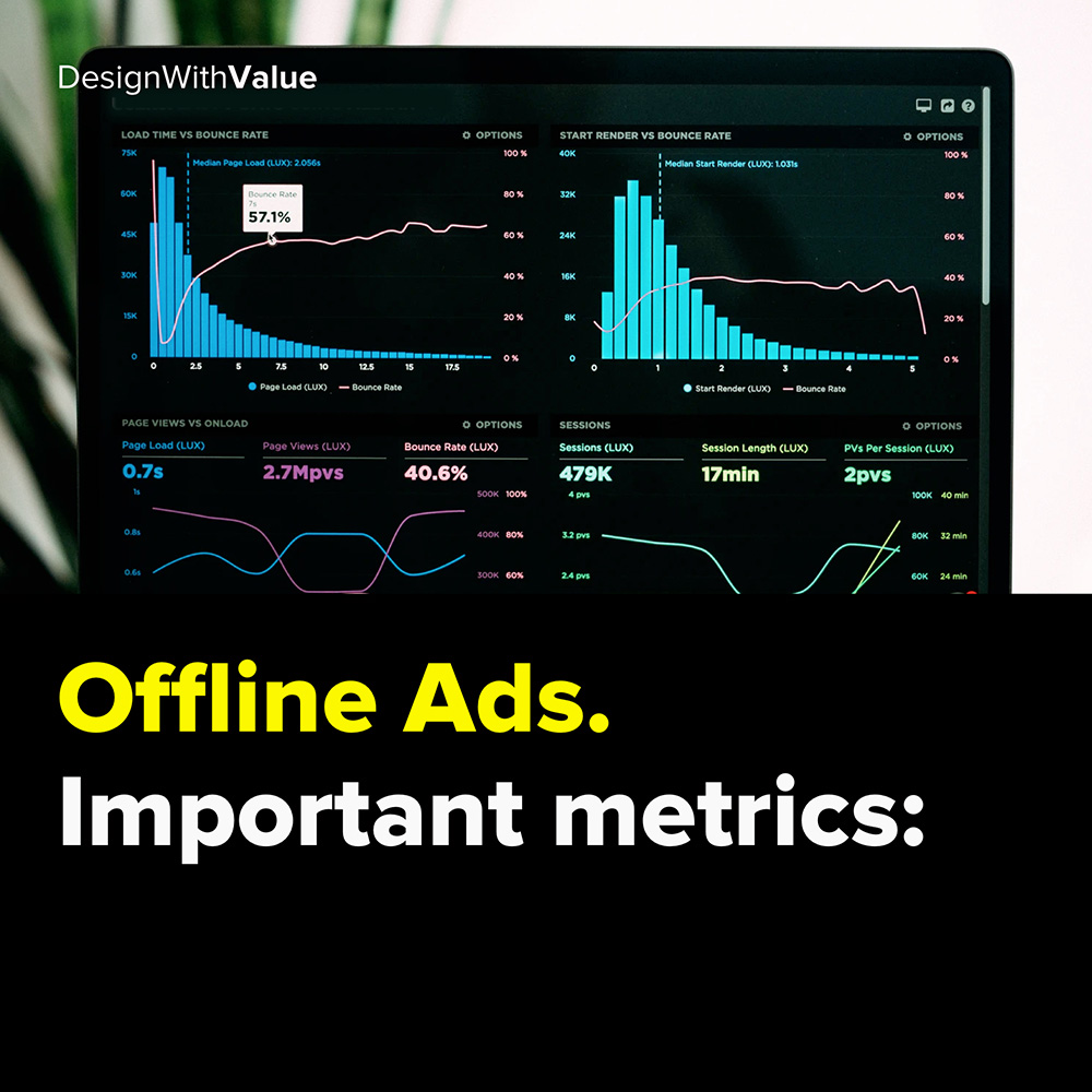 offline ads: important metrics: