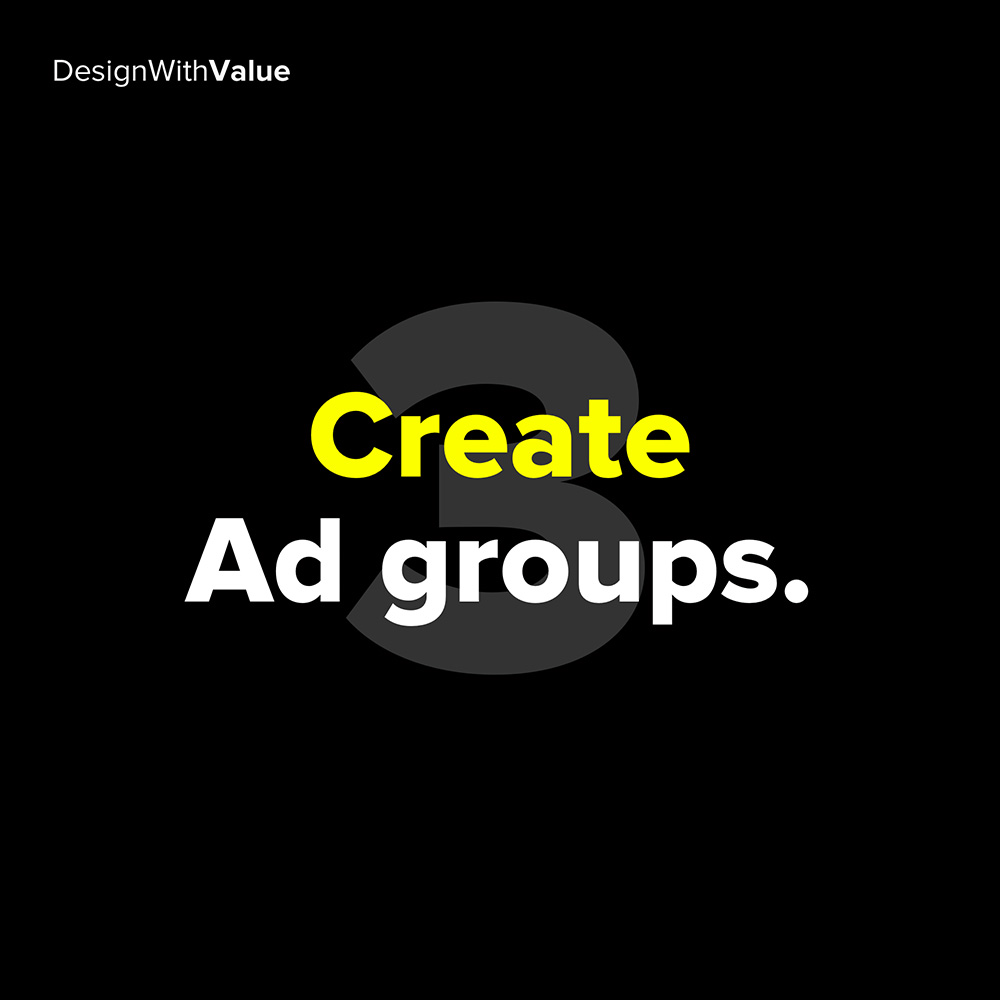 3. create ad groups