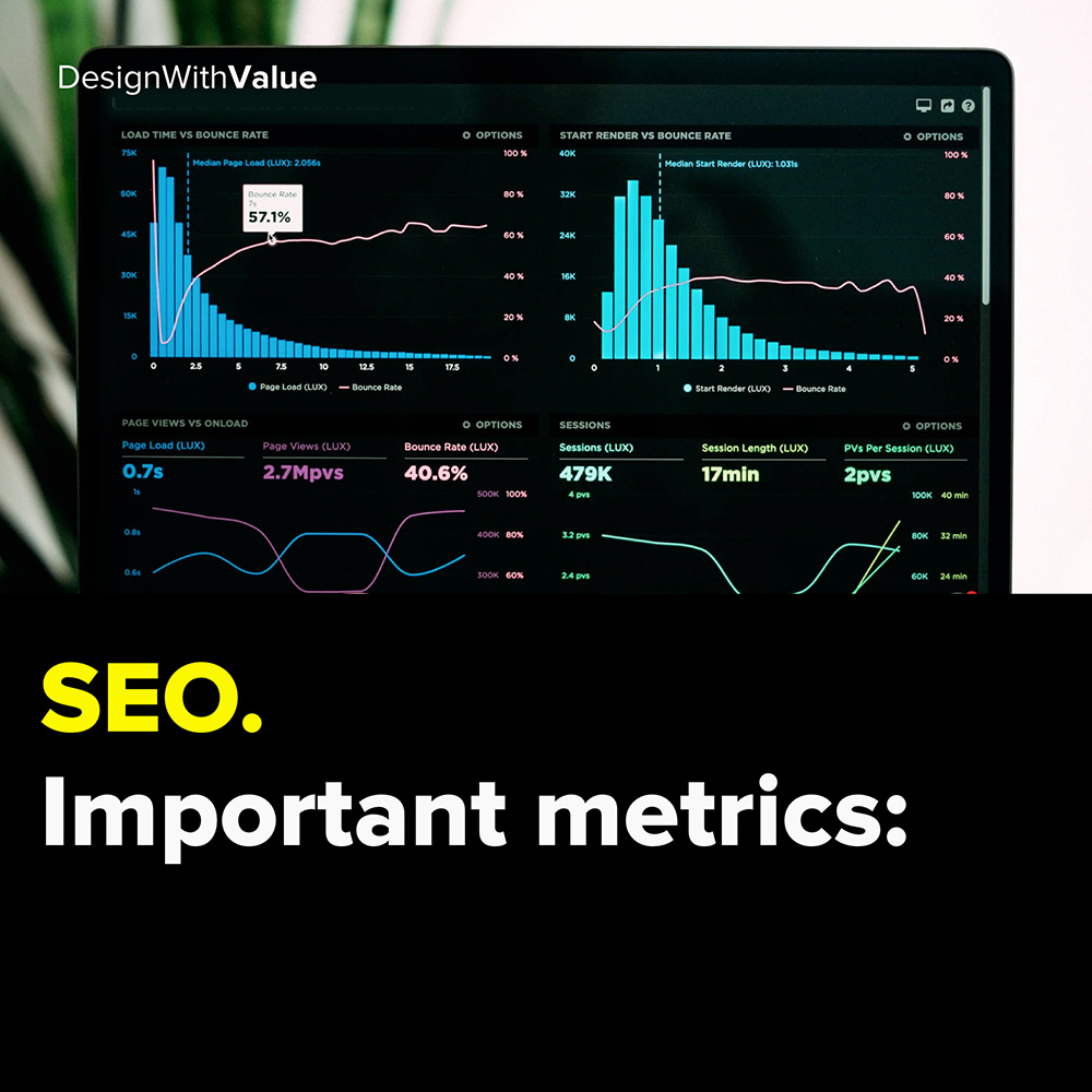search engine optimization. important metrics: