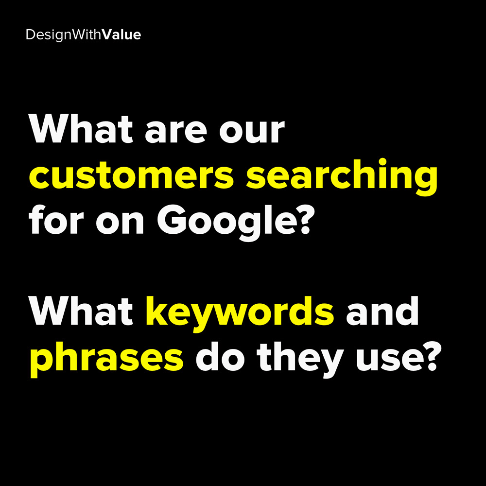 what are our customers searching for on google?