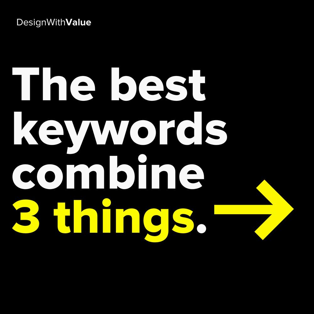 best keywords combine 3 things: