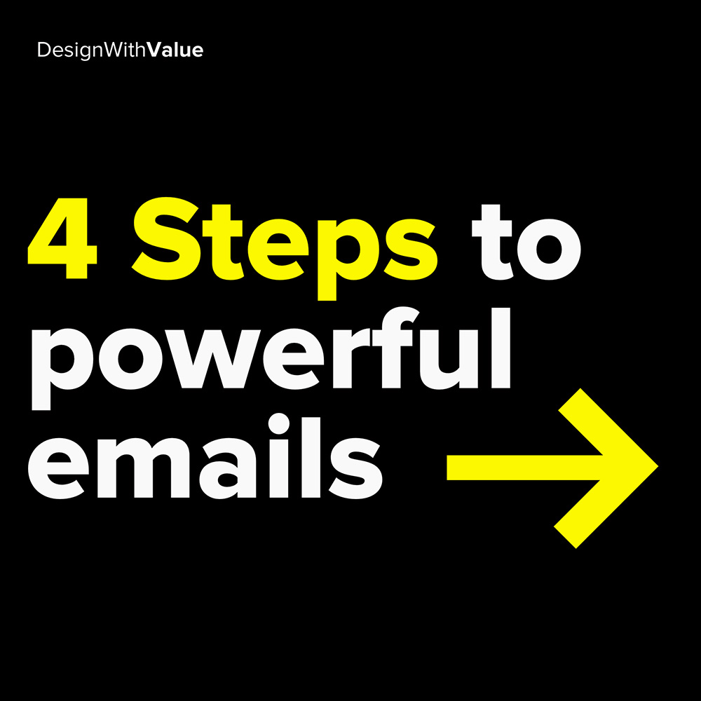4 steps to powerful emails: