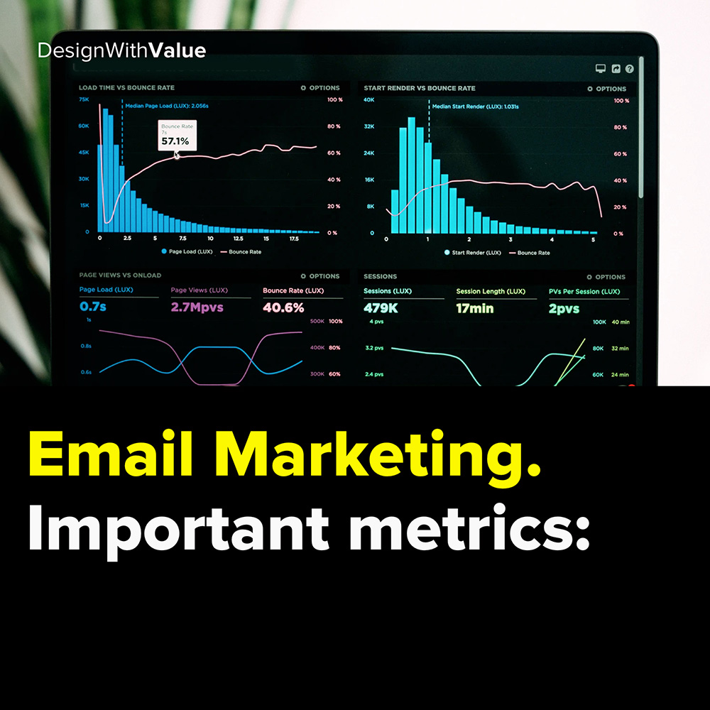 email marketing. important metrics: