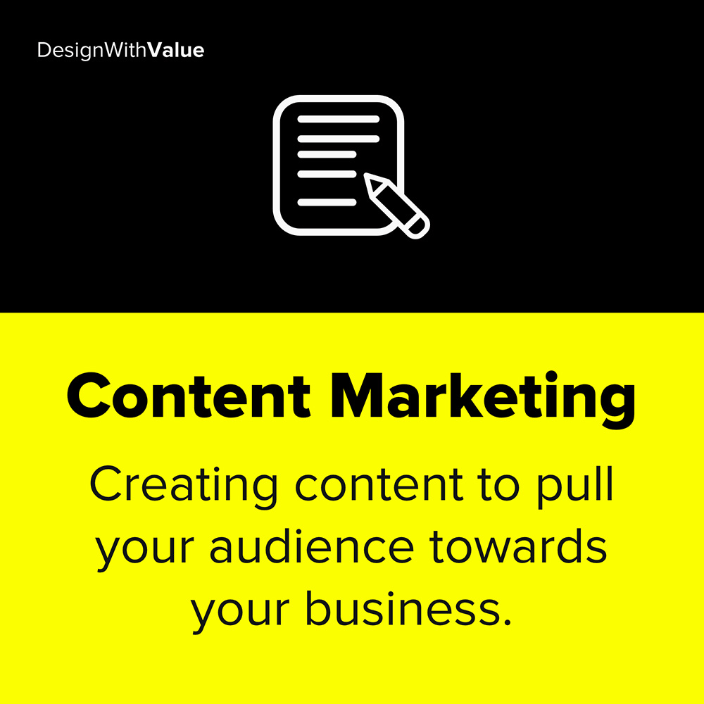content marketing means creating content to pull your audience towards your business