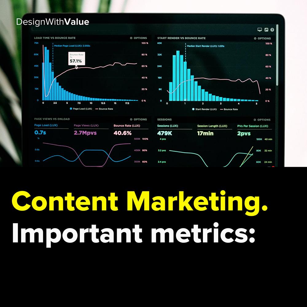 content marketing. important metrics: