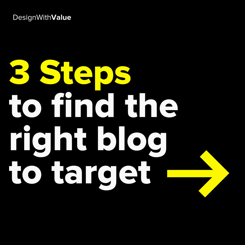 3 steps to find the right blog to target