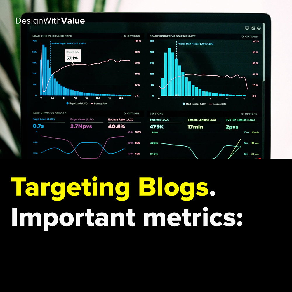 targeting blogs. important metrics: